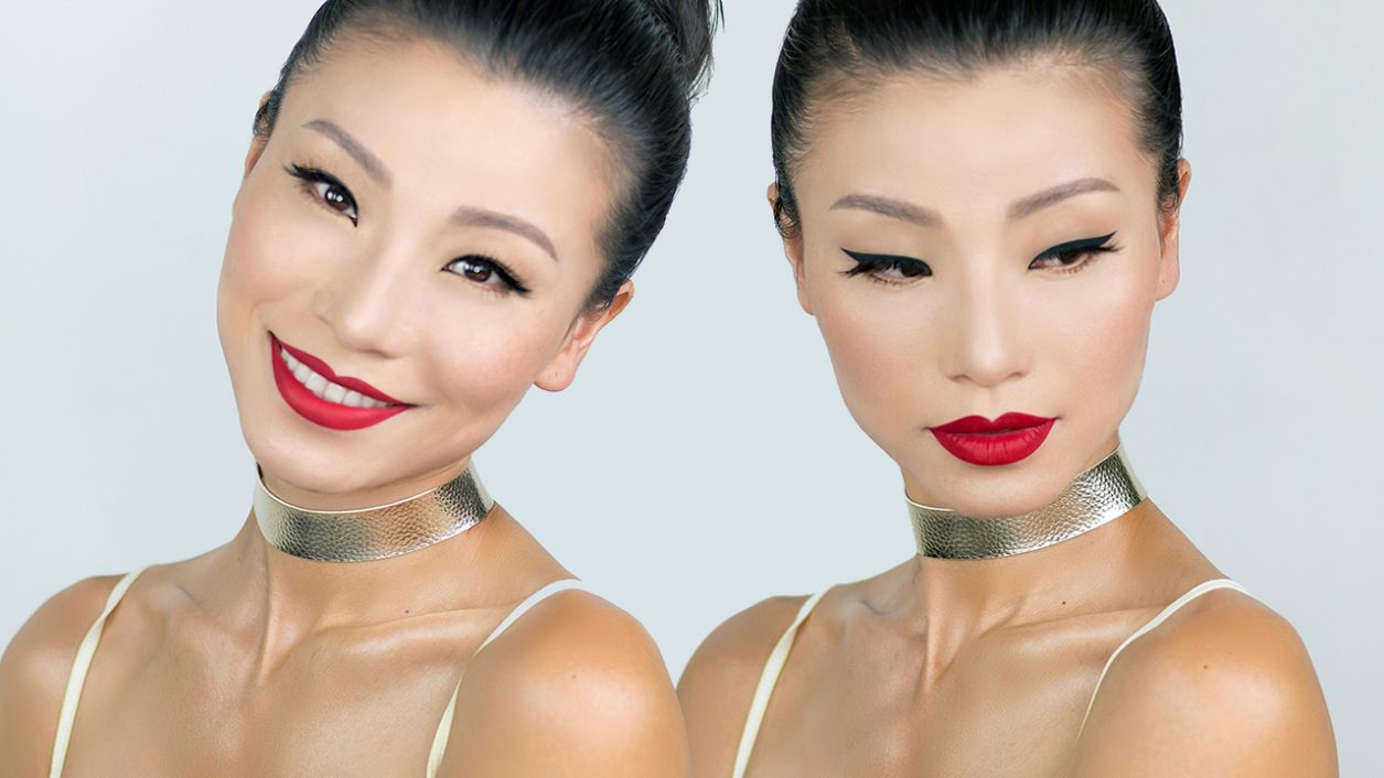 Makeup tutorial youthful classic winged eye red lips mingalings we all tried to look older when we were young but as we got older we wanted to stay young forever this is why i did this simple youthful classic winged baditri Images