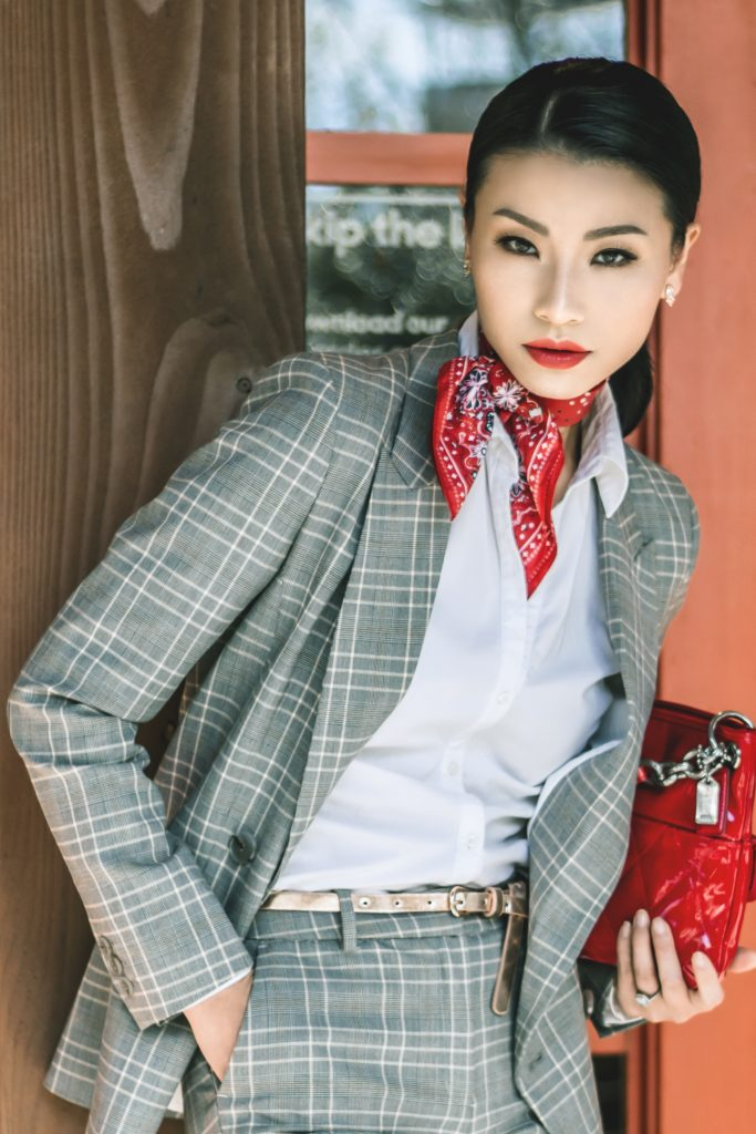 Head-to-Toe Power Plaid Suit