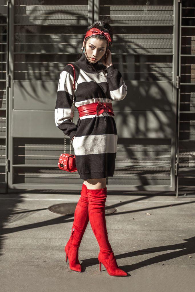 2 Ways To Wear A Shift Sweater Dress