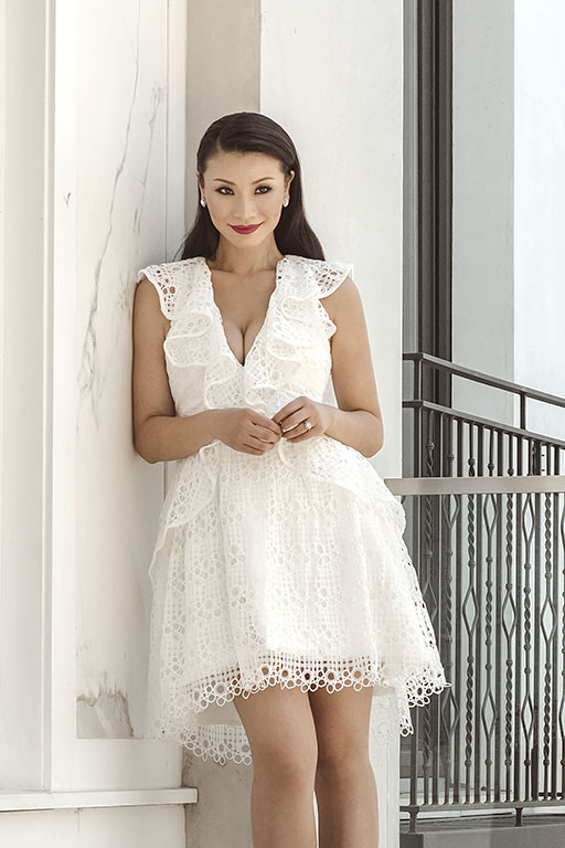 The Perfect White Wedding Rehearsal Dinner Dress For Bride